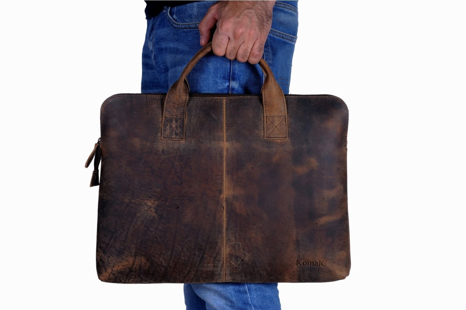 49d26d8ca193 Buy KomalC Vintage Hunter Leather Laptop Macbook Sleeve Slim Laptop Bag in  Cheap Price on m.alibaba.com