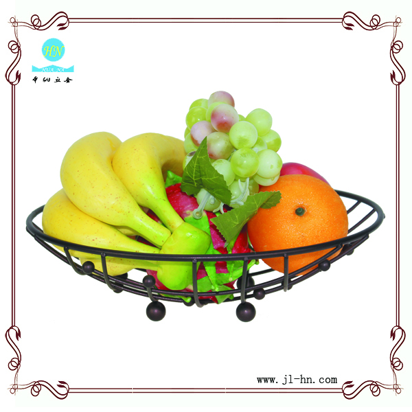 metal wire fruit basket with net cover