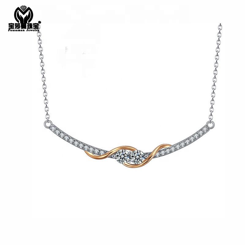 2fefd5a559c5 PSM hecho a mano de amplia collar con incrustaciones de zircon piedra de  joyería de collar