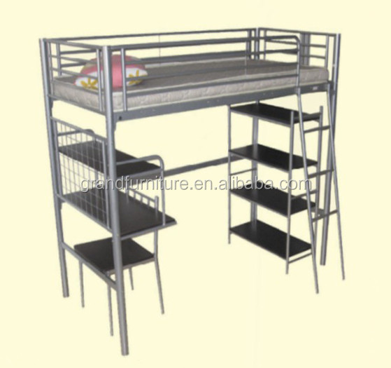2016 Fashion Design Bunk Bed with Book Shelf