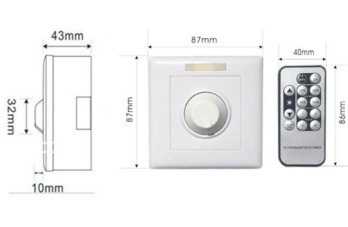 Led Light Dimmer Switch 110v-240v,Triac And Pwm