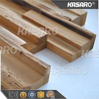 3D Solid Wood Wallpaper Interior Decor Brown 3D Wall Panel