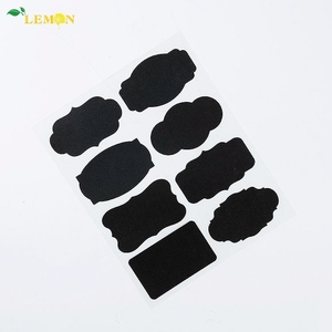 Wholesale Removable PVC Wall Decorative Printable Chalkboard Labels Stickers For Food Jars