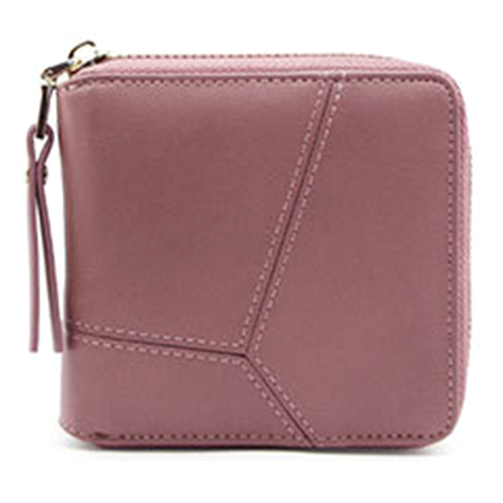 e05d08d8f Simple Square Lady Wallet, Short Paragraph Zipper Small Wallet, Mini ...