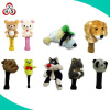 Custom soft plush golf club animal shape head cover