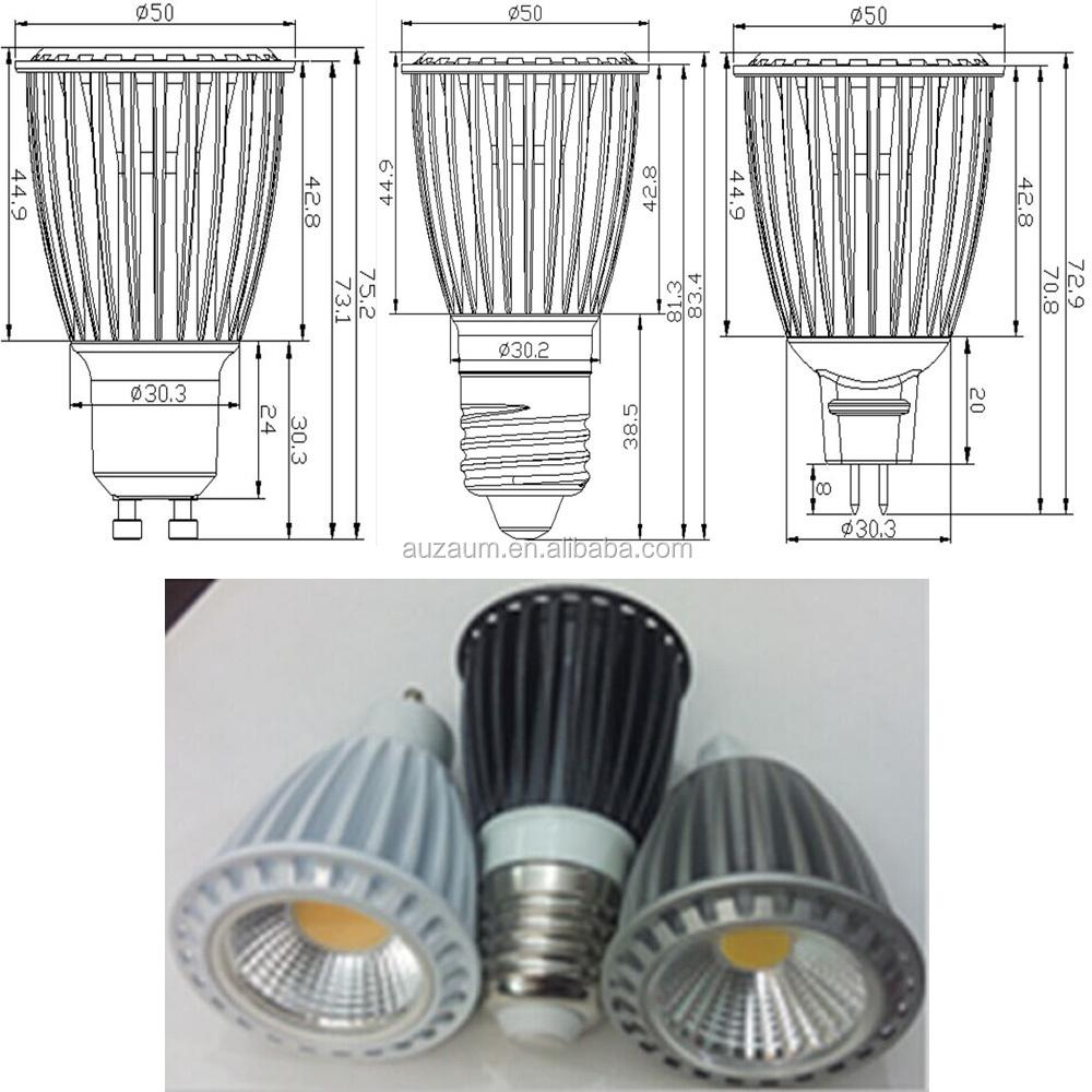 COB LED E27 Spotlighting Bulb 8W Replace 80W ,gu10 led spotlight 8w