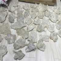 Wholesale natural Angel Aura Crystal Cluster Coated White Quartz Clusters for fengshui