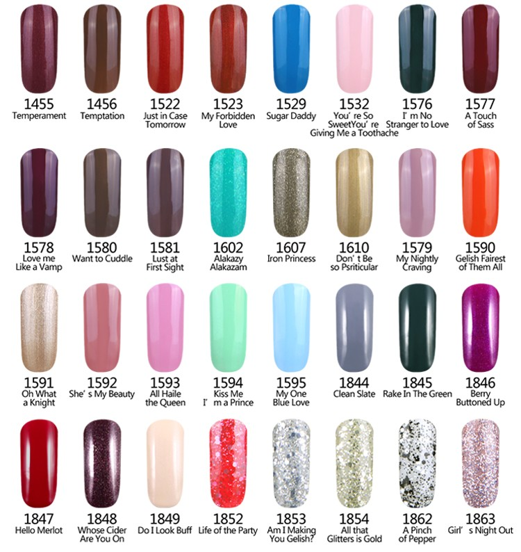 L M Jessica Magic Nail Gel Polish Set