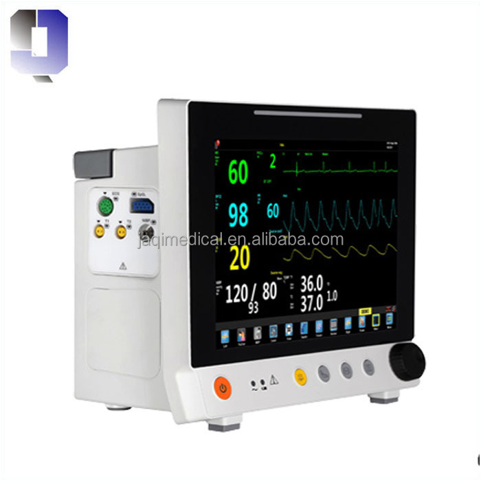 JQ-6307S 12.1inch TFT color LCD screen Public Ward multi-parameter patient monitor price