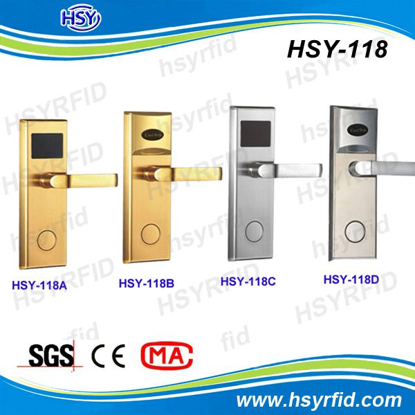 China supplier stainless steel free software hotel card reader door lock stock a lot