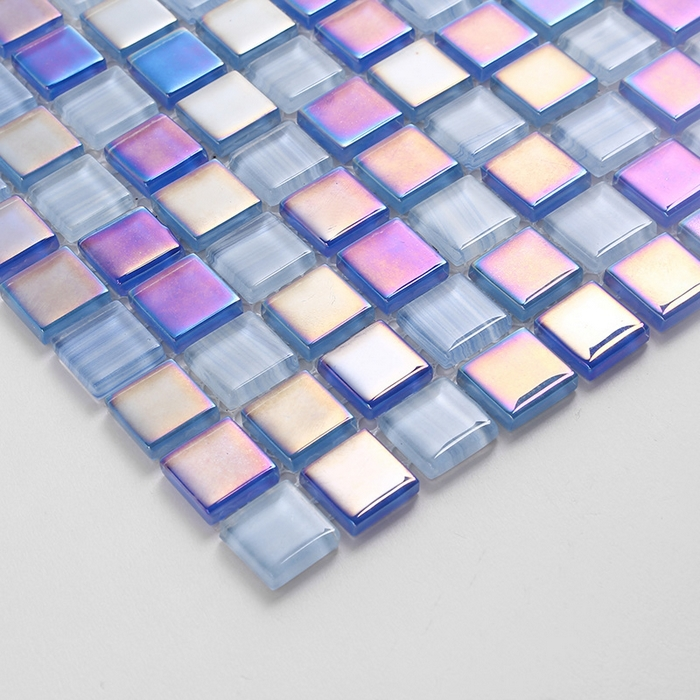 Pool Bathroom Colors: Symphony Glass Mosaic Blue Color For Swimming Pool