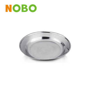 Competitive price Stainless steel round tray food plate serving tray