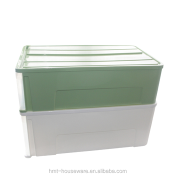 School Bus Toy Storage Box Large Plastic Clear Containers With Lids Side  Open Box Plastic Stackable