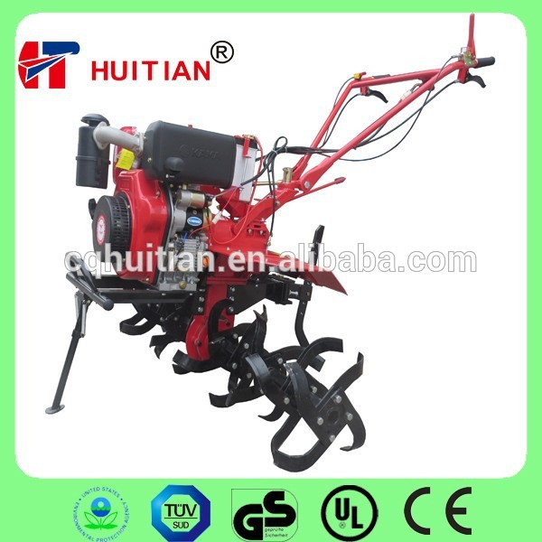 Easy Operating 6.3KW Kama 186F 9HP Mini Tiller Harvester