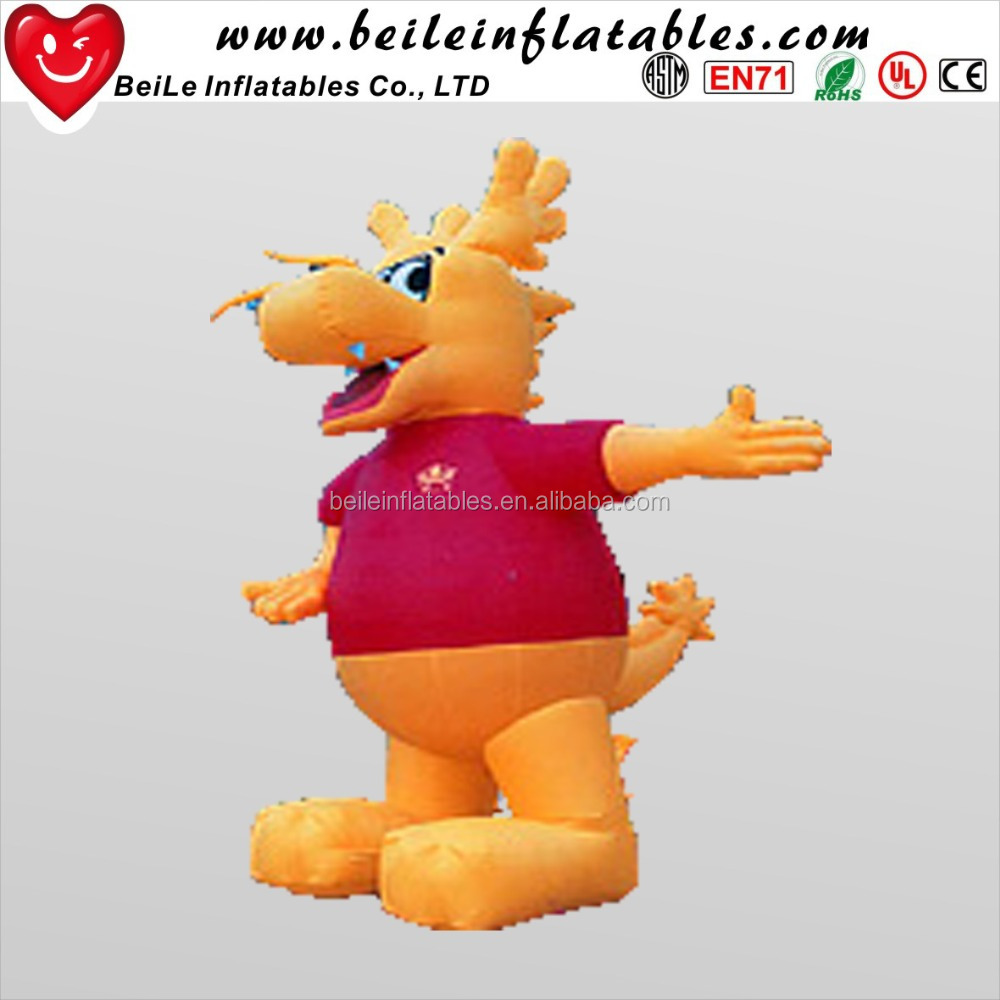 Yellow Cute Cartoon inflatable character made inflatables custom cartoon