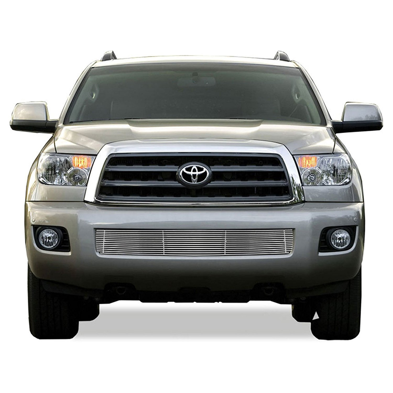 Premium FX 1pc Chrome Bumper Billet Grille Insert for 2008-2013 Toyota Sequoia