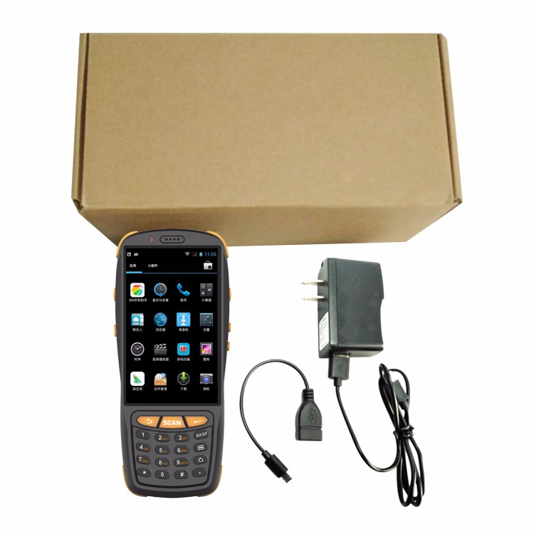 4 inch touch screen industrial rugged IP65 Android handheld android 1d barcode scanner pda with 4G LTE