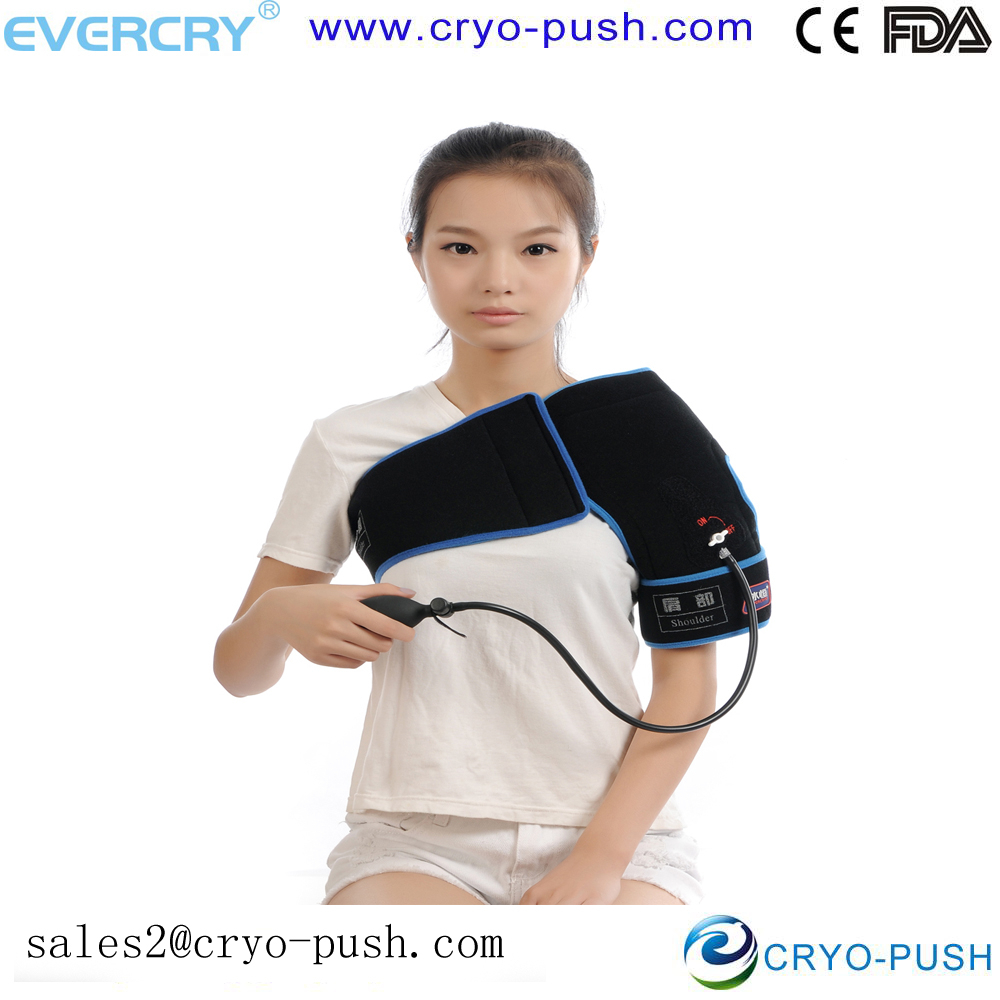 shoulder pads / cap for sports guard with cold therapy and compression