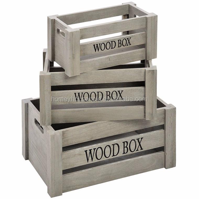 оптовая продажа потертый шик старинные деревянные ящики с