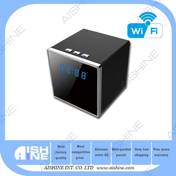 Portable wireless table clock camera with monitor