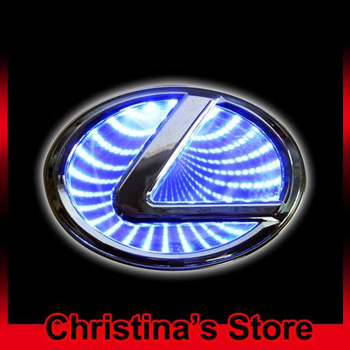 3D авто логотип свет для Lexus авто знак свет авто из светодиодов логотип свет авто эмблема светодиодные лампы бесплатная доставка