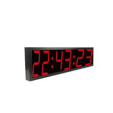 Hot Penjualan 4 Inch 6 Digit Bluetooth APP Kontrol LED Pelatihan Interval Gym Timer <span class=keywords><strong>Jam</strong></span> <span class=keywords><strong>Digital</strong></span>