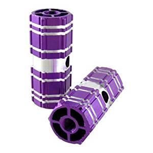 SODIAL(R) 2 Pcs Aluminum Antislip Bicycle Bike Axle Foot Pegs Purple