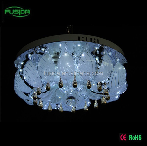 3d Crystal Indoor Led Flush Mount Ceiling Light With Mp3 And ...