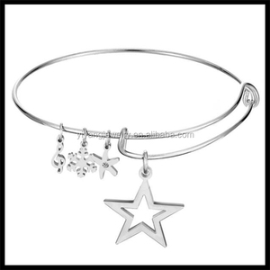 2016 Hot Wholesale Jewelry Silver Plating Charm Star Bracelet