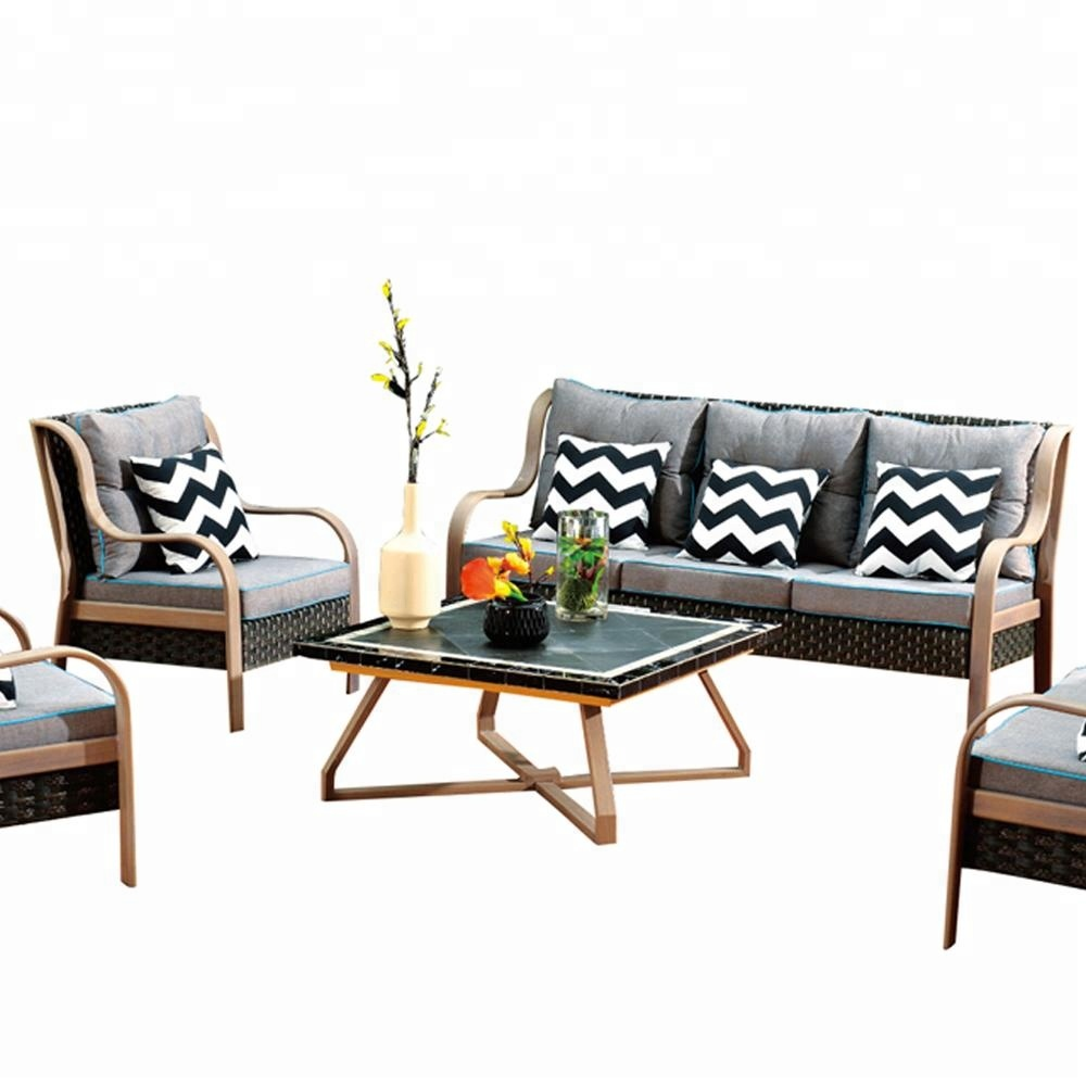 100S-2 Outdoor Furniture Set Cina materiale sintetico rattan Alibaba