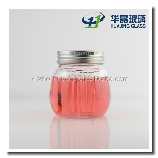 High quality 350ml 12oz clear empty ball mason jar glass with tin lid wholesale