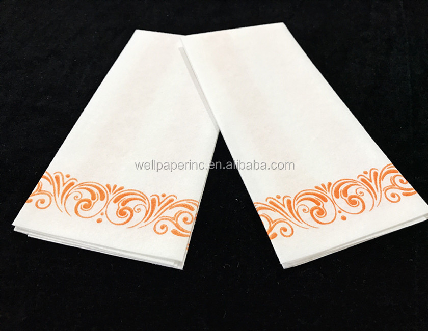 Decorative Airlaid Hand Guest Towel, 12''x17'',Durable colth like disposable guest towels and Bathroom towels.