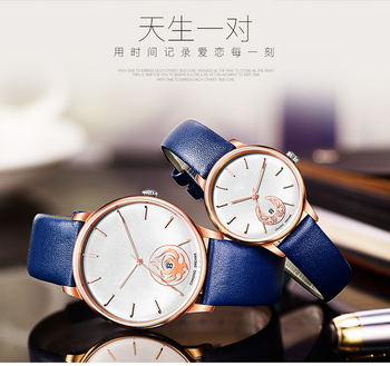 9ddbf51f32ac Blue color amazing lover watch special design for couples as gift wristwatch