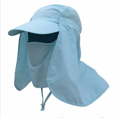 86724a98 Outdoor Sport Hiking Camping Visor Hat UV Protection Face Neck Cover  Fishing Sun Protect Cap