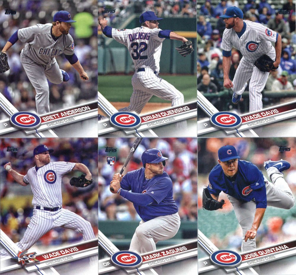 2017 Topps Update Series Chicago Cubs Team Set of 11 Cards: Ian Happ(#US10), Ian Happ(#US37), Chicago Cubs(#US44), HISTORY MAKERS(#US176), Pierce Johnson(#US179), Jose Quintana(#US212), Mark Zagunis(#US221), Wade Davis(#US224), Wade Davis(#US228), Brian Duensing(#US263), Brett Anderson(#US280)