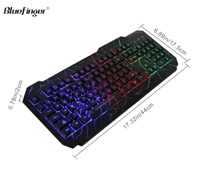 Led light gaming mechanical keyboard with bracket