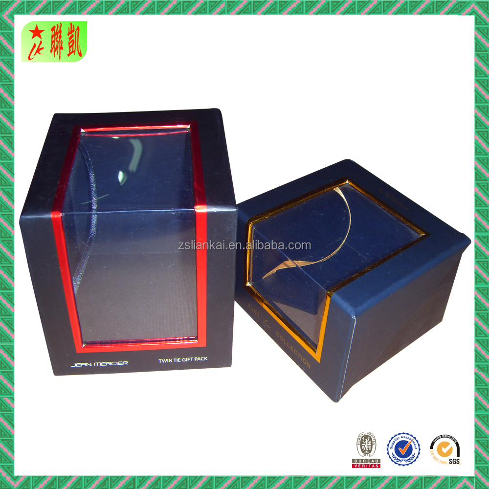 custom cardboard package box with clear pvc window