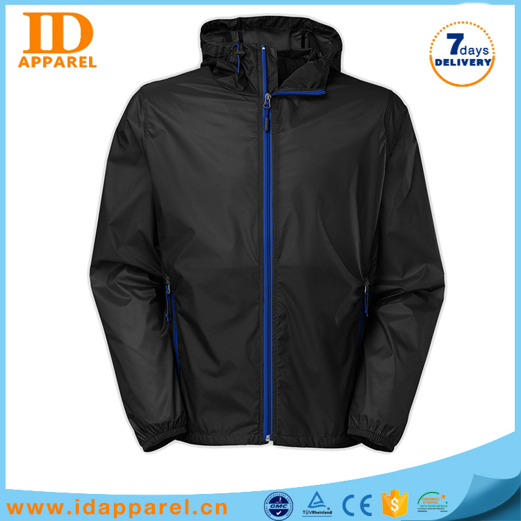 Men wholesale high quality oversize plain windbreaker rain jacket