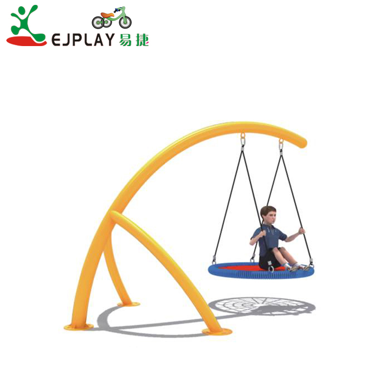 Cheap Outdoor Swing For Sale Galvanized Steel Pipe Popular Garden Swing Kids Outdoor Round Swing Set