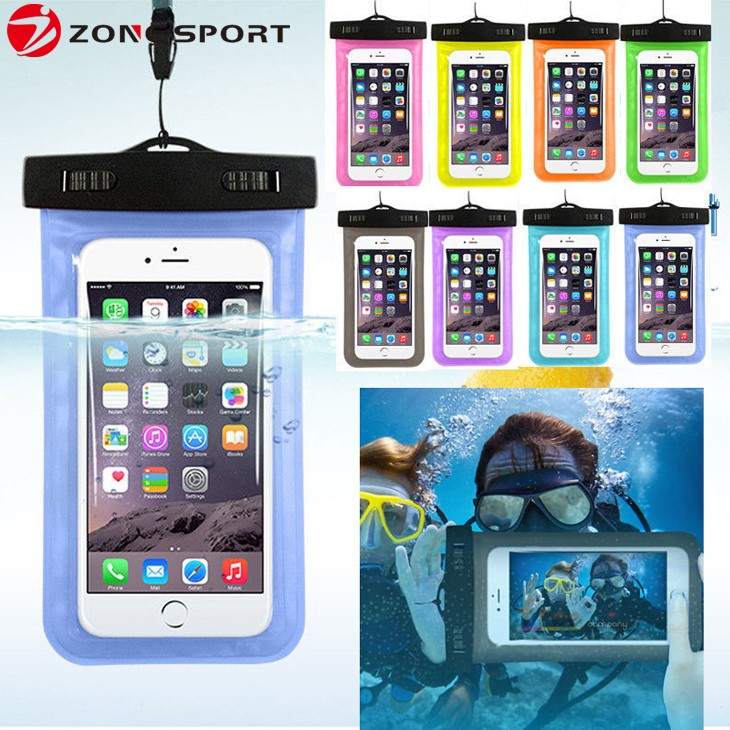 Explosive hot sales IPX8 20M plastic waterproof pouch bag Water Sports for most smartphone