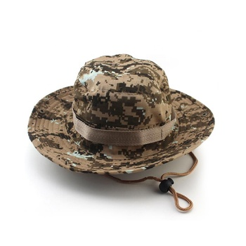 Kaavie Custom Digital Camo Outdoor Bucket Hat Military Wide Brim Boonie Hats b0869a783ca