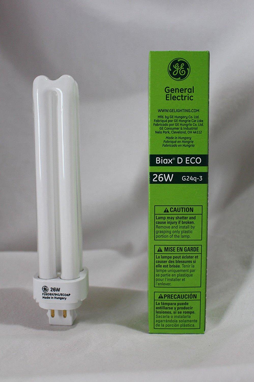 (USA Warehouse) CFL Light Bulb GE 97613 F26DBX/841/ECO4P 26W 4 Pin G24q-3 Base 4100K -/PT# HF983-1754349920