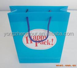 Bule color PP shopping bag with sales