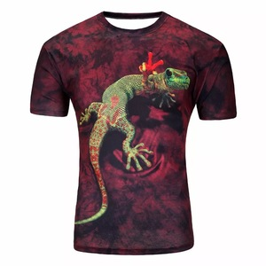Men's fashion t shirt animals 3d T-shirt cat/frog/lizard drop 3d printed short-sleeved T-shirt harajuku shirt