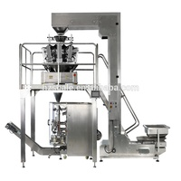 automatic combination multihead weigher and vertical bagger candy mixing packaging machine for gusset bag