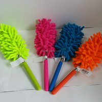 Extendable microfibre duster, Polyester chenille duster, Colorful handle Duster