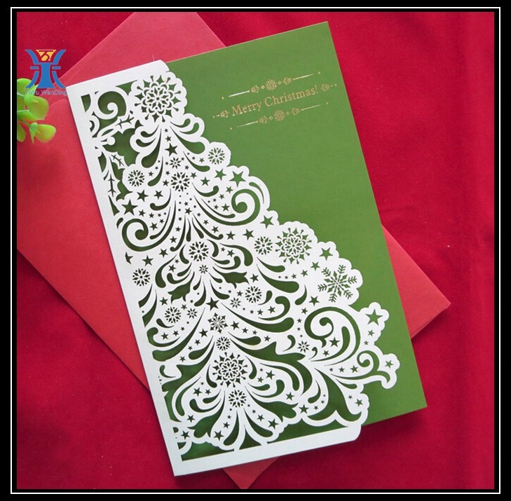 Beautiful Die-cut Paper Christmas Cards Hot Sale Creative Christmas ...