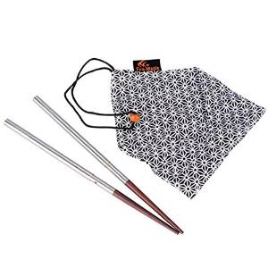Fire-maple Fmt-805 Camping Backpacking Stainless Steel and Rosewood Folding Chopsticks 18g