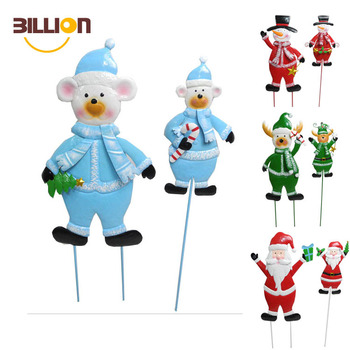 Holiday Reindeer Garden Stake Christmas Yard Decoration Metal Stakes Outdoor Decorations