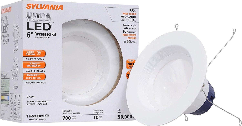 Sylvania 70699 10-watt 700 Lumen 2700K Recessed Downlight Kit